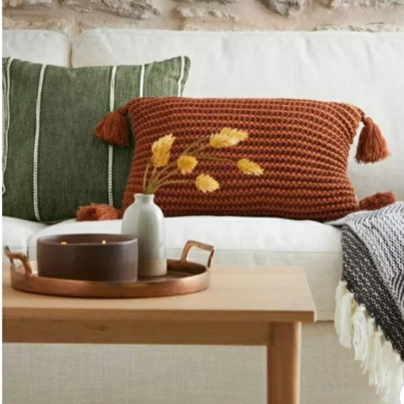 NWT! HEARTH & HAND Stripe Pattern Throw Pillow